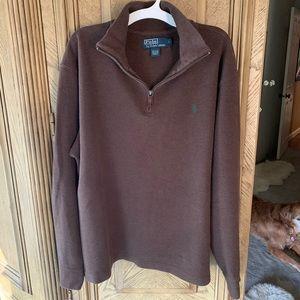 Polo Ralph Lauren chocolate 1/4 zip cotton sweater